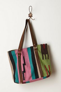 Sigh...really wishing I wasn't so obsessed with tote bags this summer......Vintage Andes Tote    #anthropologie