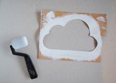 Nuvens na parede, ideia simples de decoração. - dcoracao.com - blog de decoração
