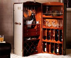 I have an antique trunk that is a simple storage unit - This however looks like a GREAT idea!