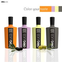Each color a different taste! Choose your favorite! http://oleajuice.com/products/ #OliveOil #OleaJuice #extravirginoliveoili