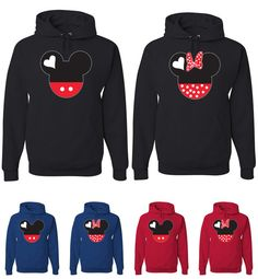 Couple Matching Mickey Mouse Hoodies Disney Mickey And by TeeHunt, $34.95