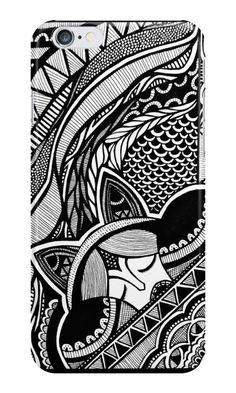 Just added this iPhone case design to my Redbubble! If you're one of zentangle lover, it might be ur favorite design! xoxo:-3