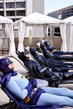 #Batman ...or, ...men?  Relaxing.