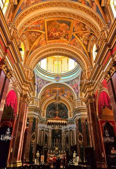 St. Paul's Cathedral in Mdina, Malta, it is above St. Paul's grotto where he healed people and stayed.