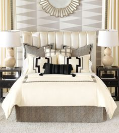 Luxury Bedding by Eastern Accents - Abernathy Collection The Decorators Inn- SC