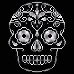 Ornate Skull Cross Stitch Chart. $5.00, via Etsy.