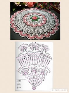 Crochet Doily with chart. - Salvabrani Learn to Crochet – Crochet Wave Fan Edging. How I made this wave fan edging border stitch. Filet Crochet, Crochet Diagram, Crochet Round, Crochet Home, Thread Crochet, Crochet Yarn, Motif Mandala Crochet, Crochet Stitches Patterns, Crochet Cushions