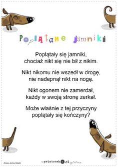 Poplątane jamniki - wiersz - Printoteka.pl