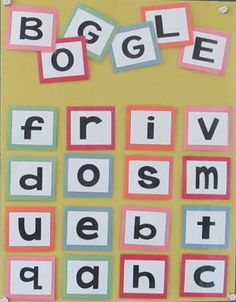 Les créations de Stéphanie: BOGGLE géant! Boggle, French Resources, French Immersion, Third Grade, Grade 2, Early Finishers, Cycle 3, Language Arts, Literacy