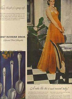 1940's maytag fridge | 1847 Rogers Bros.'s Silverplate (1948)
