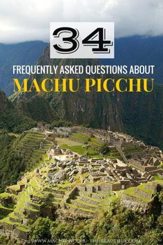 34 frequently asked questions about Machu Picchu that will help you plan your trip. When to go, where to stay, what to pack - find answers to all your questions about Machu Picchu in Peru and enjoy the Inca ruins. Ecuador, Peru Travel, Solo Travel, Travel Tips, Travel Ideas, Bolivia, Machu Picchu Travel, Chile, Altitude Sickness