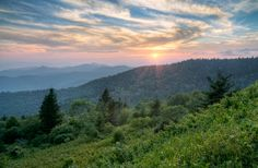 What a wonderful sunrise in the Smoky Mountains!