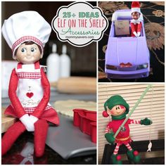 Elf on the Shelf Accessories - Many of these ideas are things you have at home already, or things you can make!