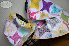 Star Quilt by Miss Polly's Piece Goods  https://www.etsy.com/listing/109272837/baby-crib-bedding-design-your-own-baby