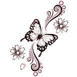 Butterfly Foot Tattoo Designs | Tribal & Lower Back Butterfly Tattoos