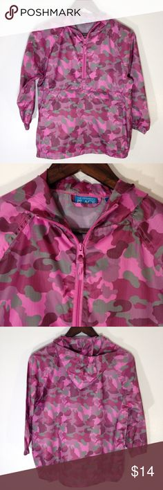 Children's Place Windbreaker Pink camouflage hooded windbreaker from The Children's Place. Like new condition with no flaws.  100% nylon. Children's Place Jackets & Coats