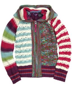 One Good Thread - Desigual - SIEVE - GIRL THICK KNITTED PULLOVER HOODED LONG SLEEVE - Multi Colored, $88.00 (http://www.onegoodthread.com/desigual-sieve-girl-thick-knitted-pullover-hooded-long-sleeve-multi-colored/)