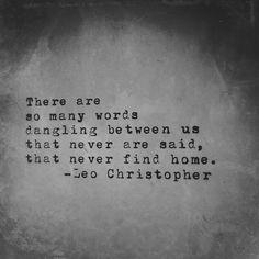 Dangling Between Us • LeoChristopherPoetry.com