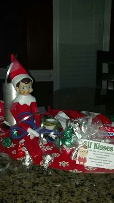 Wrapping!  Elf on the Shelf.