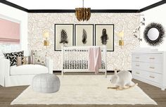 Shelby Girard | Blush Pink and Neutral Nursery