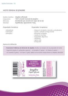 - Antioxidante - Estimulante - Antiséptico - Tratamiento Problemas de Retención de Líquidos: Realizar un masaje con un pre...