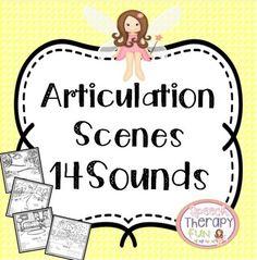 Articulation Scenes #speechtherapy http://www.speechtherapyfun.com/