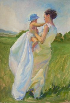 Summer breeze, oil on card, 69cm x 49cm