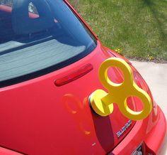 VW Beetle Yellow Wind Up Key