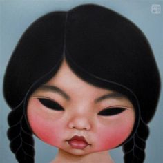 Paintings by Poh Ling Yeow, a Malaysian-born Australian artist, actress and runner-up in MasterChef Australia. Masterchef Australia, Funky Art, Indigenous Art, Australian Artists, Klimt, Lovers Art, My Arts, Art Deco, Artsy