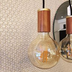 The Mosaic Factory offers you lots of beautiful mosaics, in many colours, shapes and sizes. We often see them processed in the kitchen and bathroom, but they are also very suitable for your living room. Our tiles spice up any wall or floor, providing your interior with unique details. These pennyround mosaics come from our Venice-collection and have a soft green colour. Living Room Tiles Design, Living Room Interior, Living Room Decor, Unique Tile, Small Tiles, Mosaic Patterns, Spice Things Up, Interior Styling, Different Colors