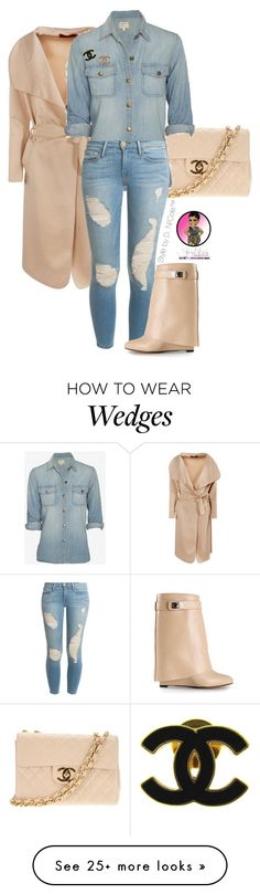 """Untitled #2847"" by stylebydnicole on Polyvore featuring Chanel, Current/Elliott, Frame Denim and Givenchy"
