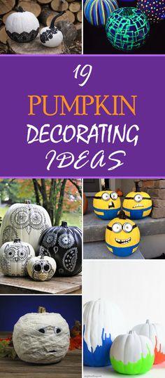 19 Pumpkin Decorating Ideas for Halloween
