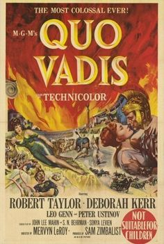A fierce Roman general becomes infatuated with a beautiful Christian hostage and begins questioning the tyrannical leadership of the despot Emperor Nero. With Robert Taylor, Deborah Kerr, Leo Genn
