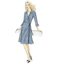 Classic wrap dress sewing pattern inspired by the original. Vogue Patterns V8379.