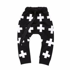 baby baby boys cross cotton pantsbottoms in black