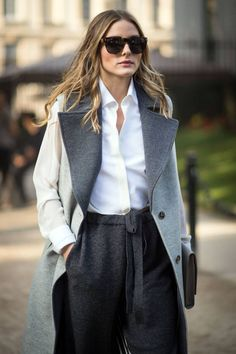 Canada Goose kids online official - Who made Olivia Palermo's gray coat and gold sunglasses? (OutfitID ...