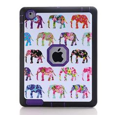 Cartoon Elephant Cover for Apple iPad 4/iPad 3/iPad 2 9.7 inch Luxury Rugged Shockproof Dual Layer Armor Hard Protective Case