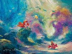 art lilo and stitch disney painting winnie the pooh mickey mouse disneyland peter pan the little mermaid ariel beauty and the beast tinkerbelle bambi Belle lilo stitch 101 dalmations fine art fantasia jungle book Sorceror Mickey Ariel Disney, Disney Pixar, Disney Amor, Walt Disney, Disney Little Mermaids, Ariel The Little Mermaid, Disney And Dreamworks, Disney Love, Disney Magic