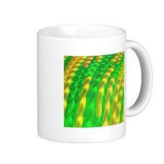 """lurid"" neon ; neon coffee mug"