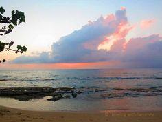 Colorful #clouds at #Honokowai #Beach Park at sunset #Maui