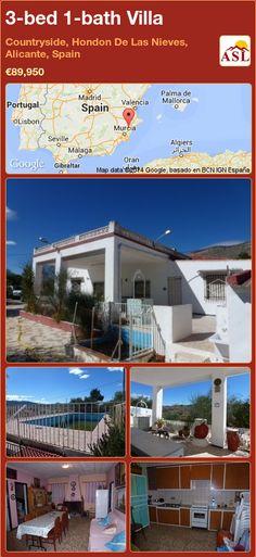 3-bed 1-bath Villa in Countryside, Hondon De Las Nieves, Alicante, Spain ►€89,950 #PropertyForSaleInSpain