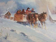 Christmas card horse wagon church scene blank inside a joyous season 1988 Horse Wagon, Christmas Horses, Christmas Cards, Scene, Seasons, Holiday, Painting, Ebay, Art