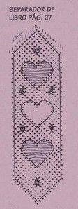 otro patrón de marcapáginas. De corazones.