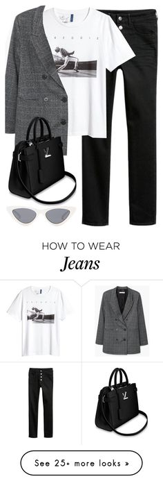 """Untitled #3318"" by elenaday on Polyvore featuring H&M, MANGO and Le Specs"