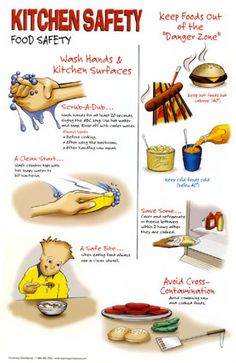 Health is about where and how our food is prepared, too! Do you have good kitchen safety?