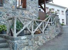 Resultado de imagen de piedra natural forja y madera