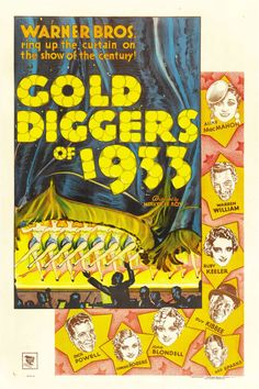 "Gold Diggers of 1933 (Warner Brothers, 1933). One Sheet (27"" X 