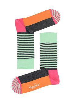 HAPPY SOCKS Half Stripe - Socken - Mehrfarbig - Planet Sports