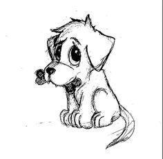 Easy dog sketch