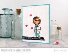 Hello again! The MFT November Release Countdown continues and today I'm sharing a card with a faux embossed background and stamps from Read Order Stamps, Countdown, Images Vintage, Mft Stamps, Les Sentiments, Famous Last Words, Get Well Cards, Copics, Amor